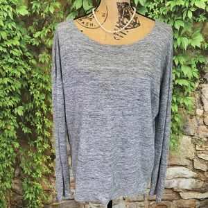 EILEEN FISHER Relaxed Fit Linen Tee, L